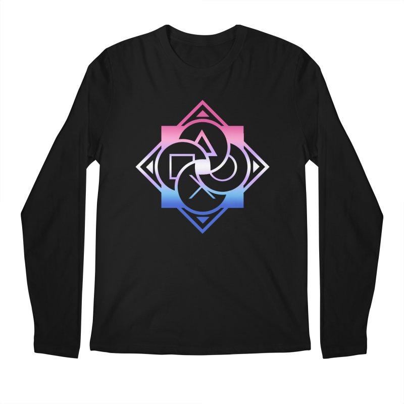 Logo - Bigender Pride Men's Regular Longsleeve T-Shirt by Queer Women Game Loot