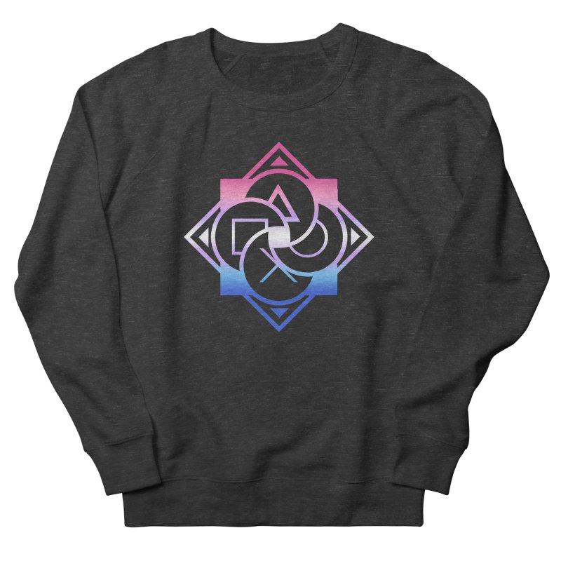 Logo - Bigender Pride Men's French Terry Sweatshirt by Queer Women Game Loot