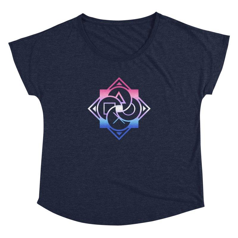 Logo - Bigender Pride Women's Dolman Scoop Neck by Queer Women Game Loot