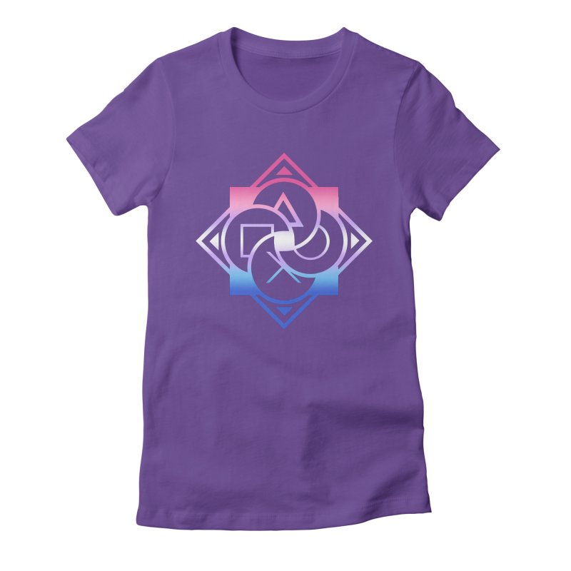Logo - Bigender Pride Women's Fitted T-Shirt by Queer Women Game Loot