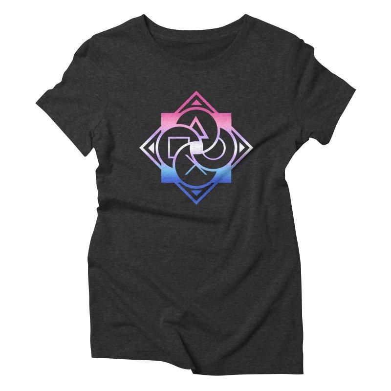 Logo - Bigender Pride Women's Triblend T-Shirt by Queer Women Game Loot