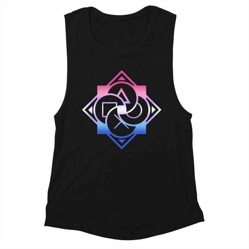 Logo - Bigender Pride Women's Muscle Tank by Queer Women Game Loot
