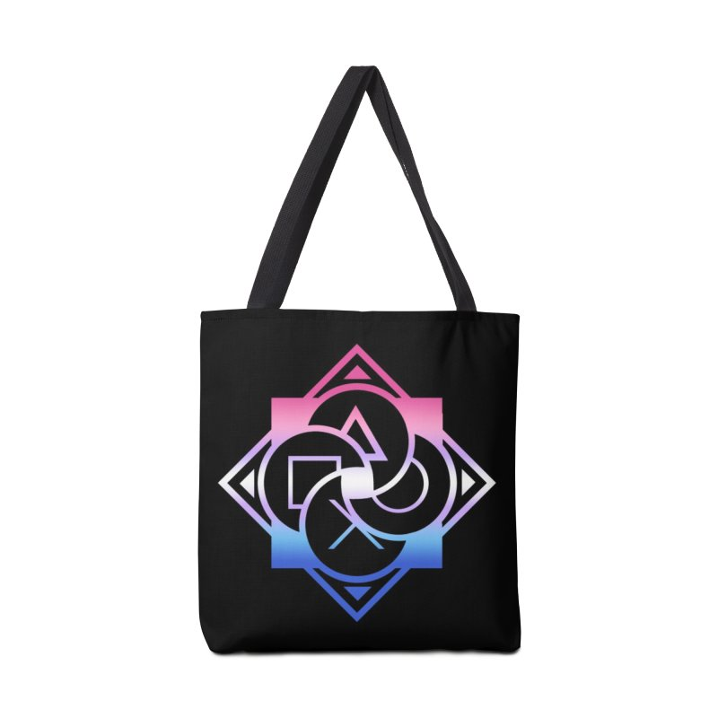 Logo - Bigender Pride Accessories Tote Bag Bag by Queer Women Game Loot