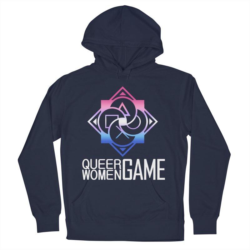 Logo & Text - Bigender Pride Men's Pullover Hoody by Queer Women Game Loot