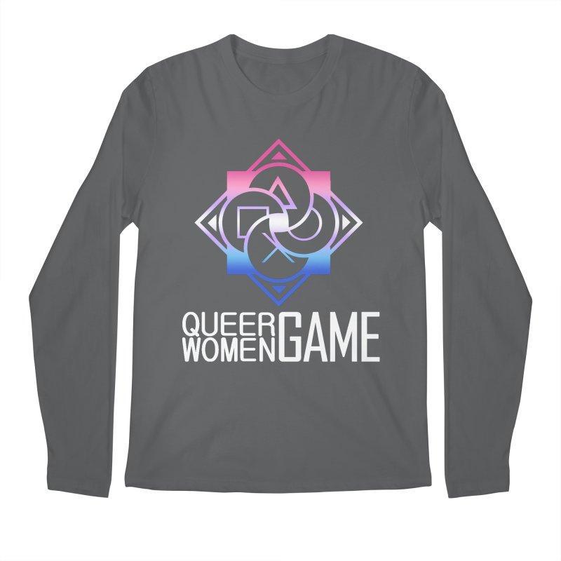 Logo & Text - Bigender Pride Men's Longsleeve T-Shirt by Queer Women Game Loot