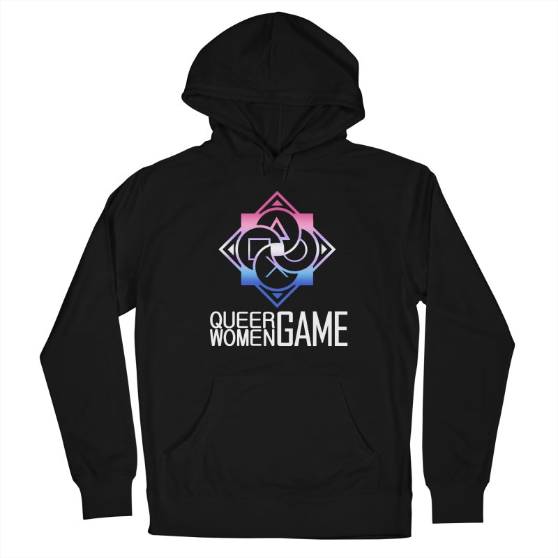 Logo & Text - Bigender Pride Men's French Terry Pullover Hoody by Queer Women Game Loot