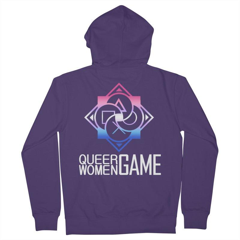 Logo & Text - Bigender Pride Women's Zip-Up Hoody by Queer Women Game Loot