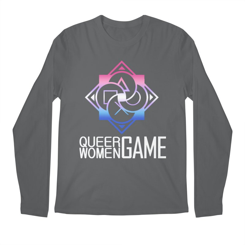 Logo & Text - Bigender Pride Men's Longsleeve T-Shirt by Queer Women Game Loot