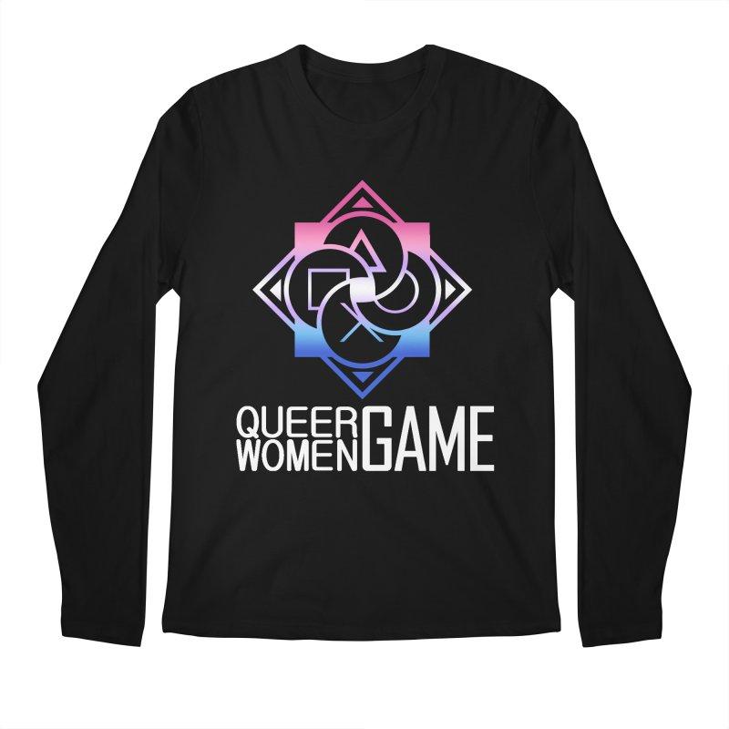 Logo & Text - Bigender Pride Men's Regular Longsleeve T-Shirt by Queer Women Game Loot
