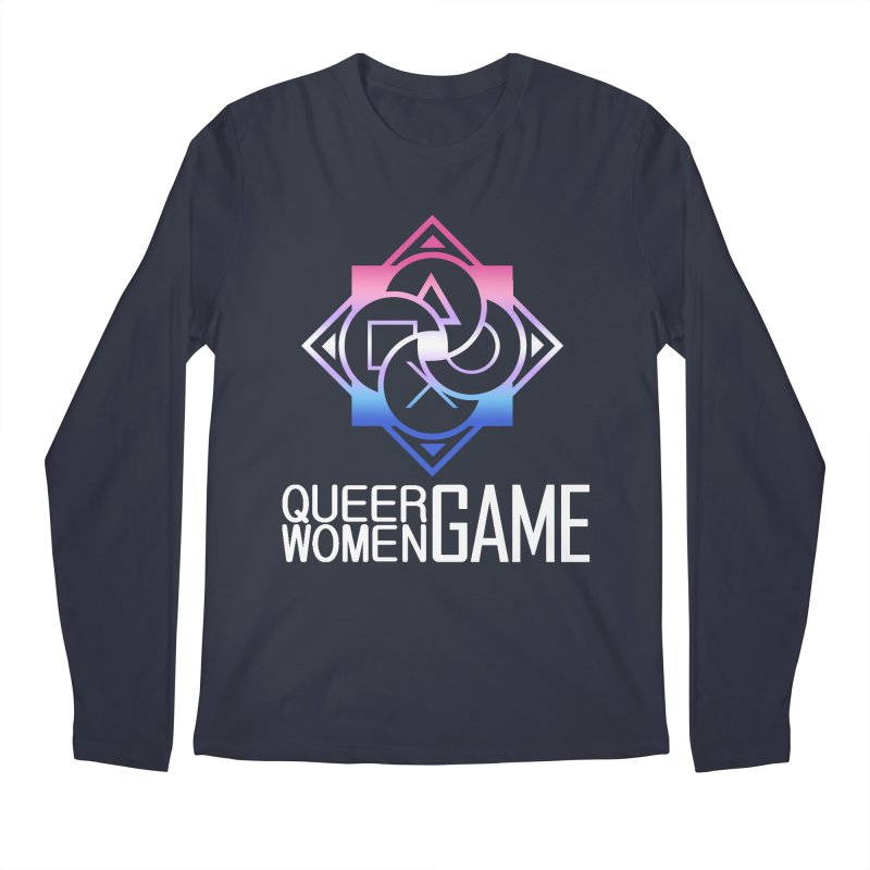Logo & Text - Bigender Pride Men's Regular Longsleeve T-Shirt by Queer Women Game Loot
