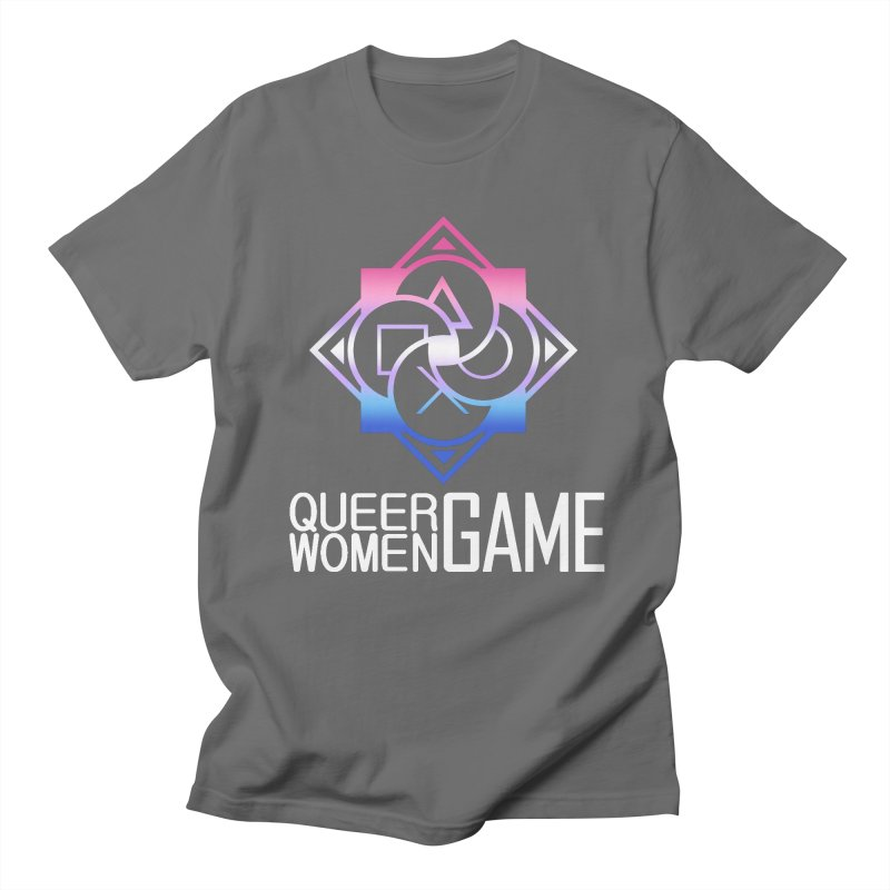 Logo & Text - Bigender Pride Men's T-Shirt by Queer Women Game Loot