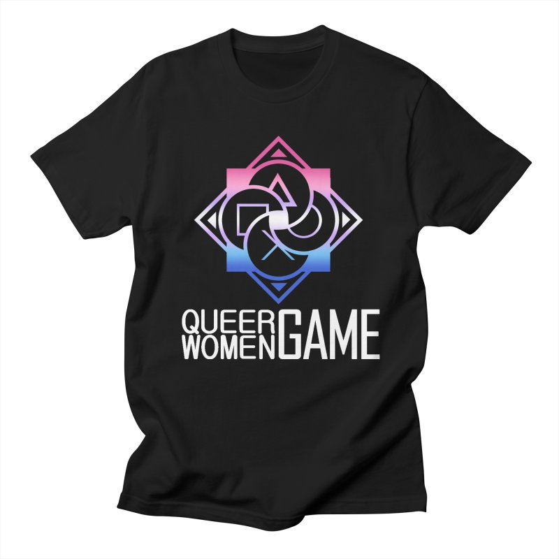Logo & Text - Bigender Pride Women's Regular Unisex T-Shirt by Queer Women Game Loot