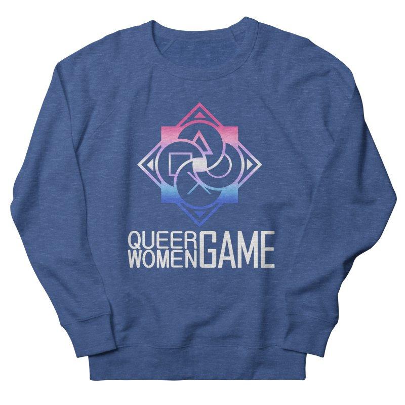 Logo & Text - Bigender Pride Women's French Terry Sweatshirt by Queer Women Game Loot
