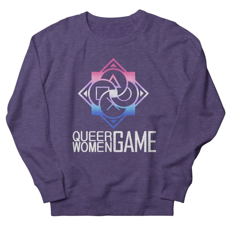 Logo & Text - Bigender Pride Women's French Terry Sweatshirt by Queer Women Game Loot