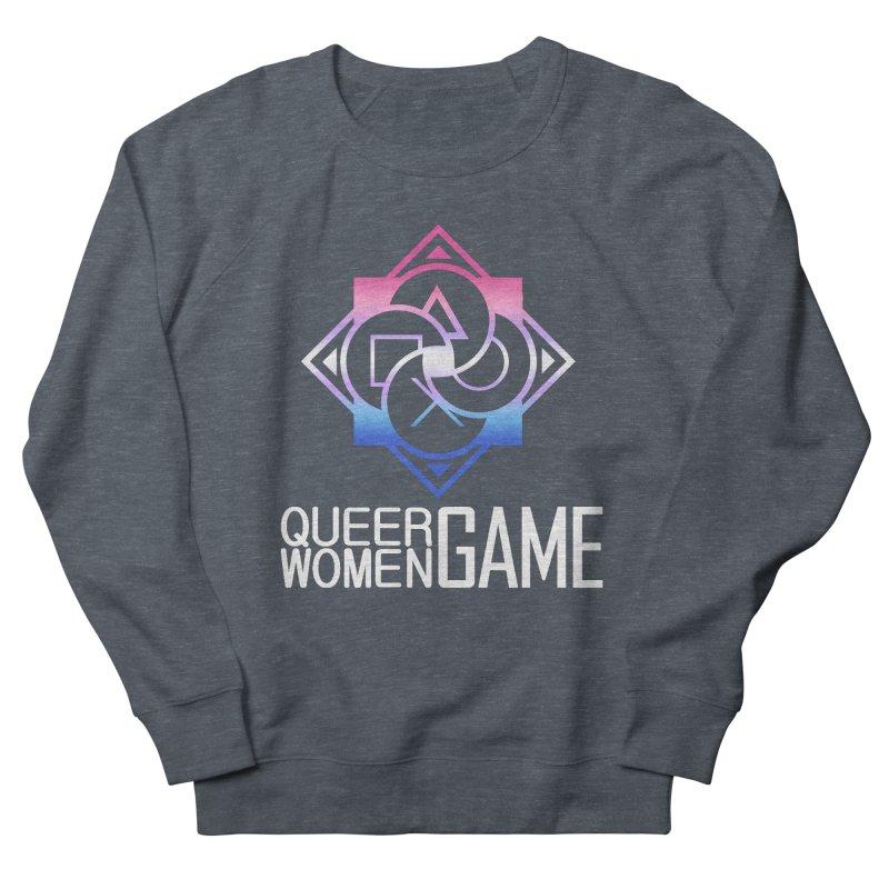 Logo & Text - Bigender Pride Men's French Terry Sweatshirt by Queer Women Game Loot