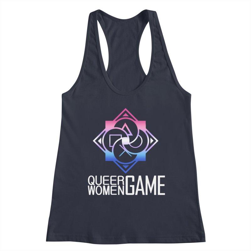 Logo & Text - Bigender Pride Women's Tank by Queer Women Game Loot