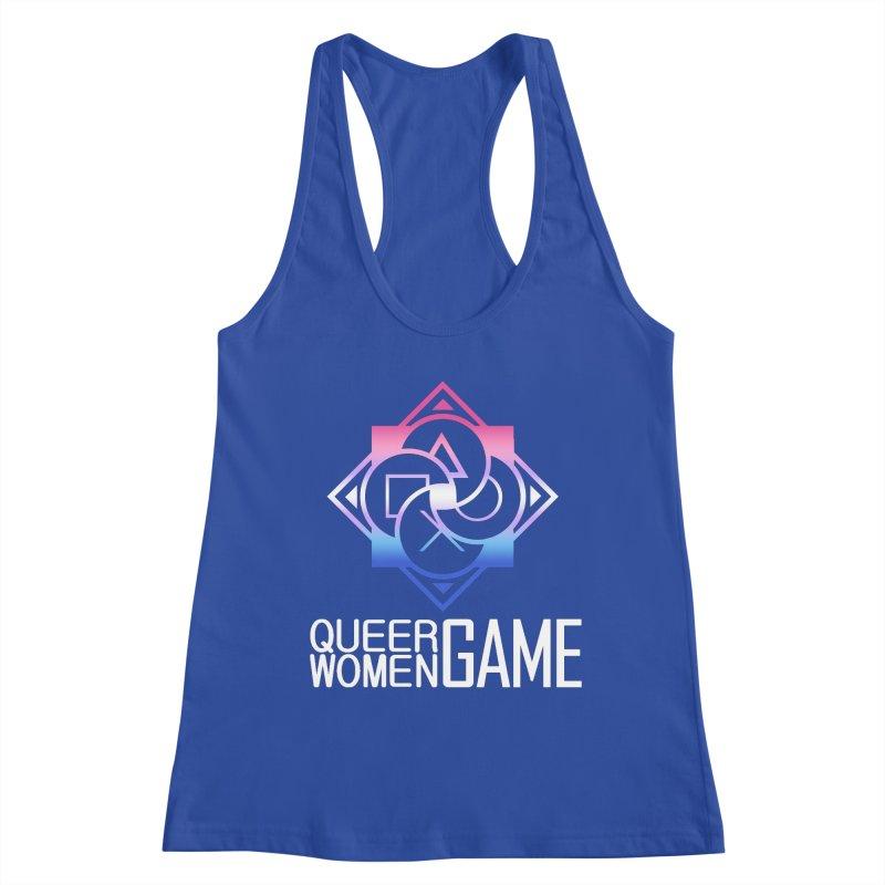 Logo & Text - Bigender Pride Women's Racerback Tank by Queer Women Game Loot