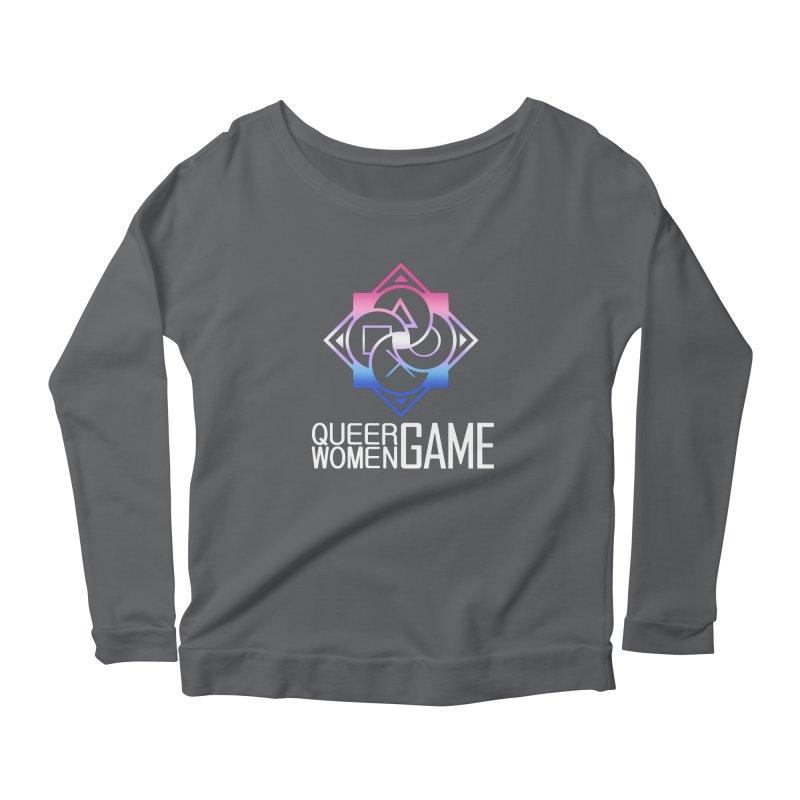 Logo & Text - Bigender Pride Women's Longsleeve T-Shirt by Queer Women Game Loot