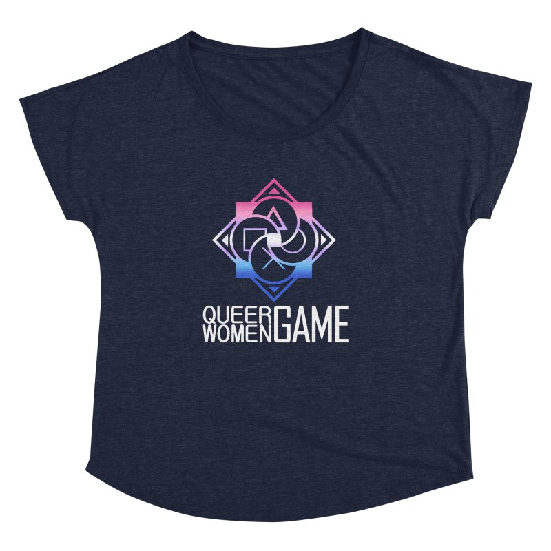 Logo & Text - Bigender Pride Women's Dolman Scoop Neck by Queer Women Game Loot