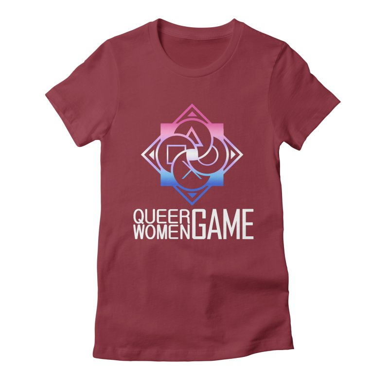 Logo & Text - Bigender Pride Women's Fitted T-Shirt by Queer Women Game Loot