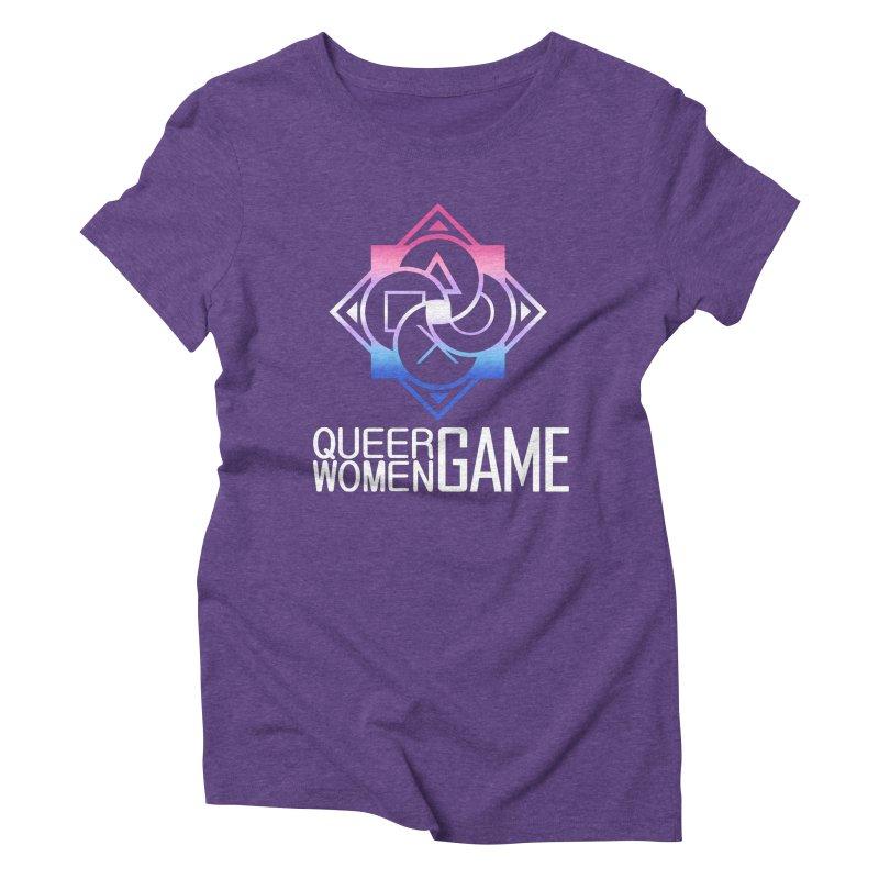Logo & Text - Bigender Pride Women's Triblend T-Shirt by Queer Women Game Loot