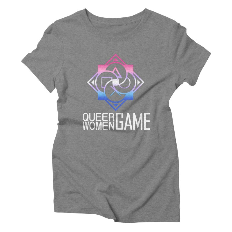Logo & Text - Bigender Pride Women's Triblend T-Shirt by Queer Women Game Loot