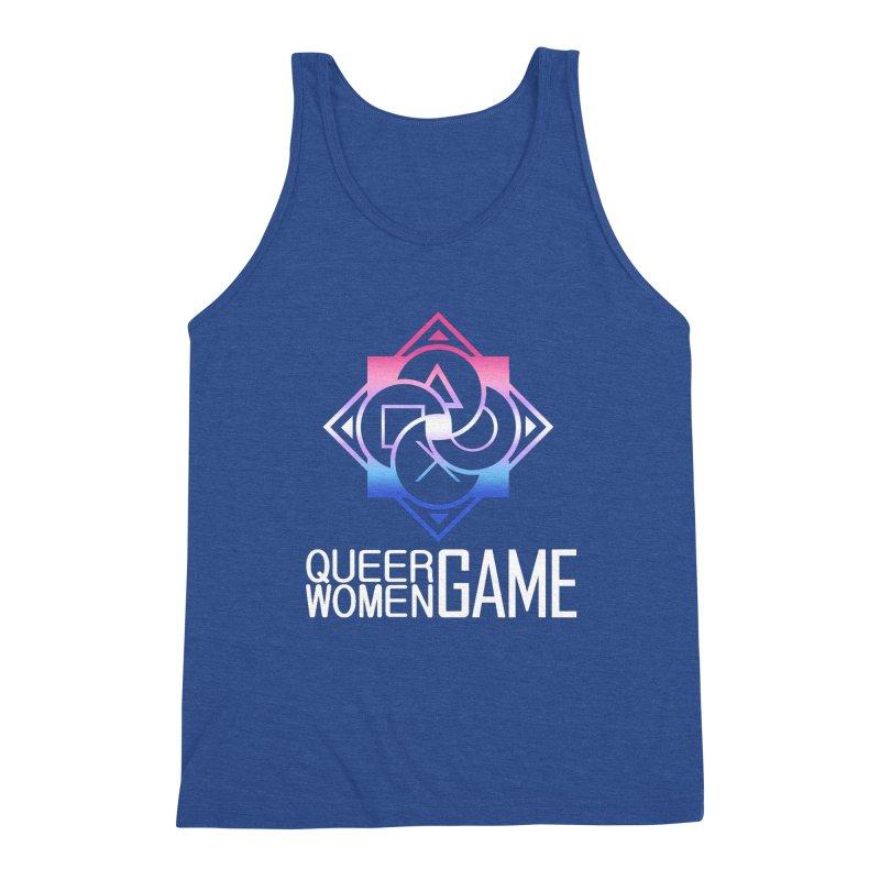 Logo & Text - Bigender Pride Men's Tank by Queer Women Game Loot