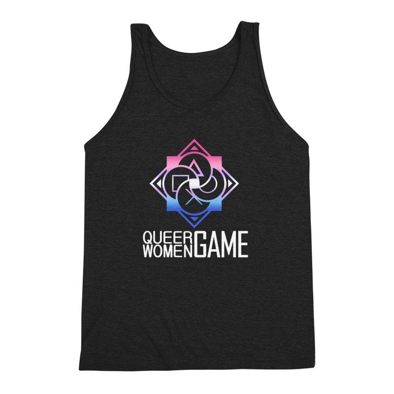 Logo & Text - Bigender Pride Men's Triblend Tank by Queer Women Game Loot