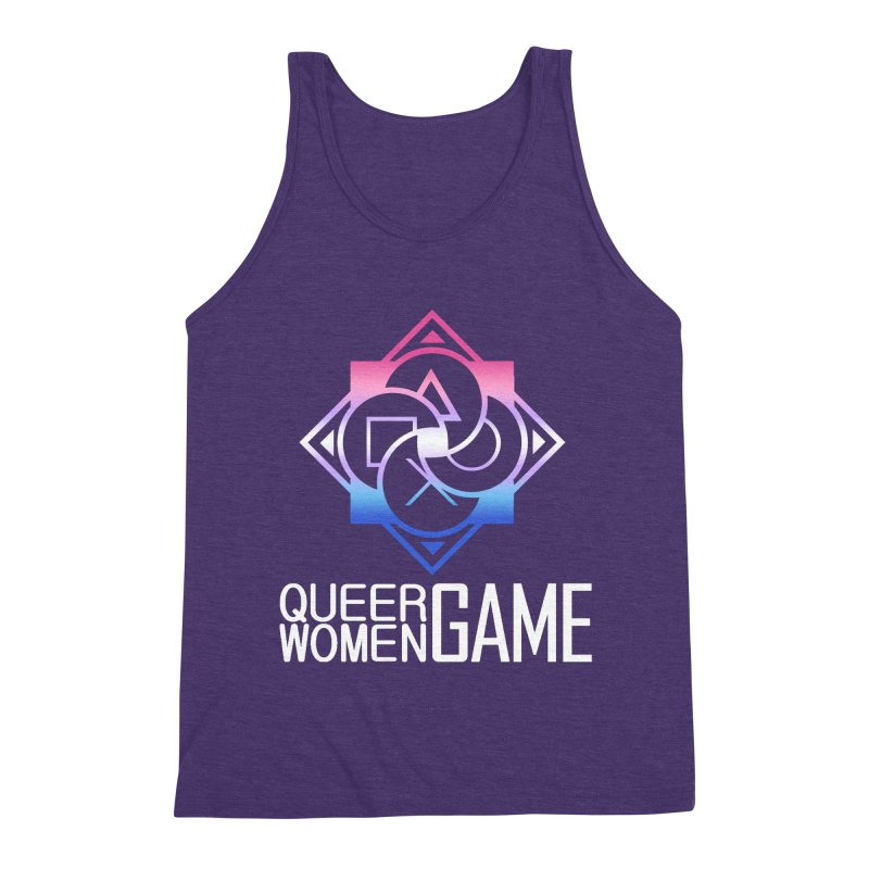 Logo & Text - Bigender Pride Men's Triblend Tank by Queer Women Game Loot