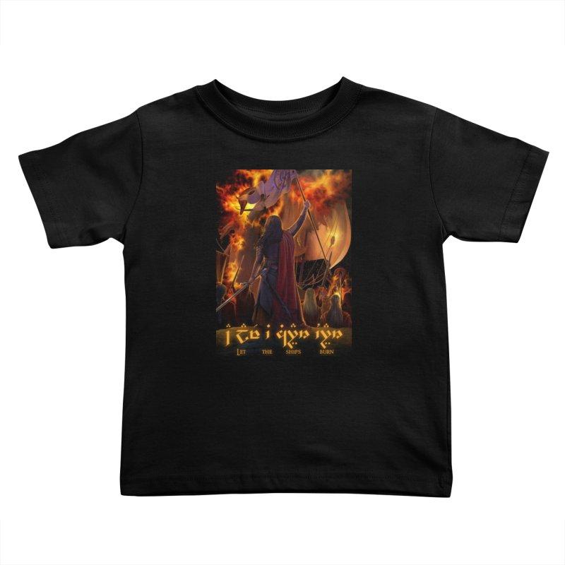 Fëanor burning ships Kids Toddler T-Shirt by Q101 Shop