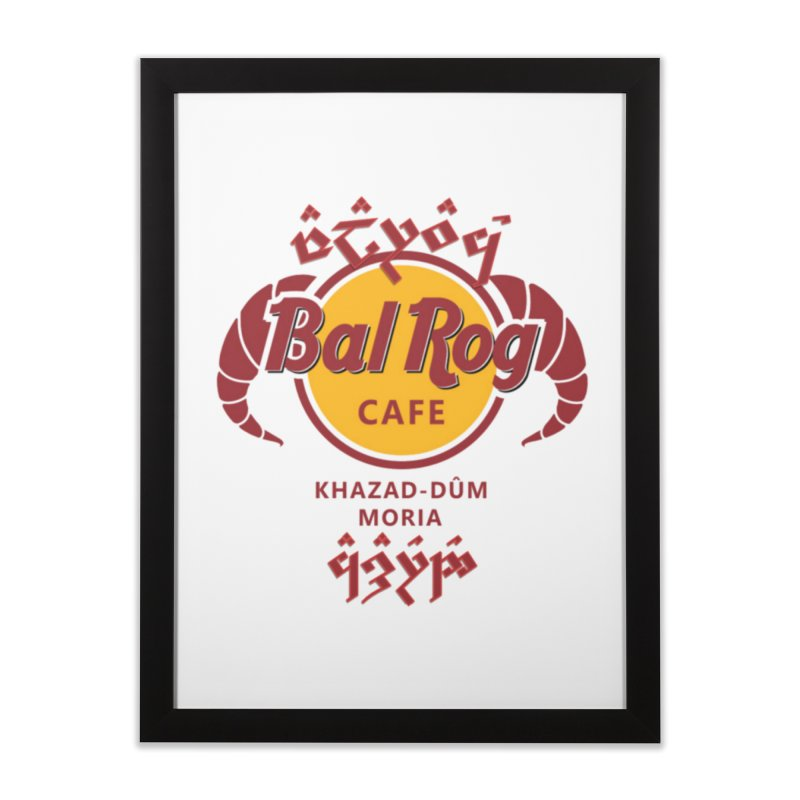 Valarauco Cafe in Framed Fine Art Print Black by Q101 Shop