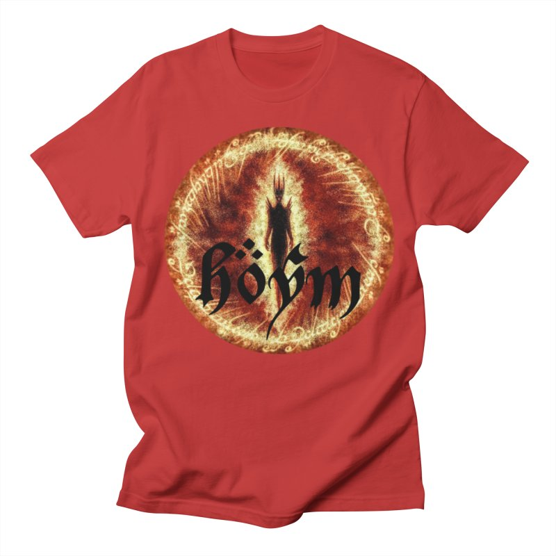 Sauron in Men's T-shirt Red by Q101 Shop
