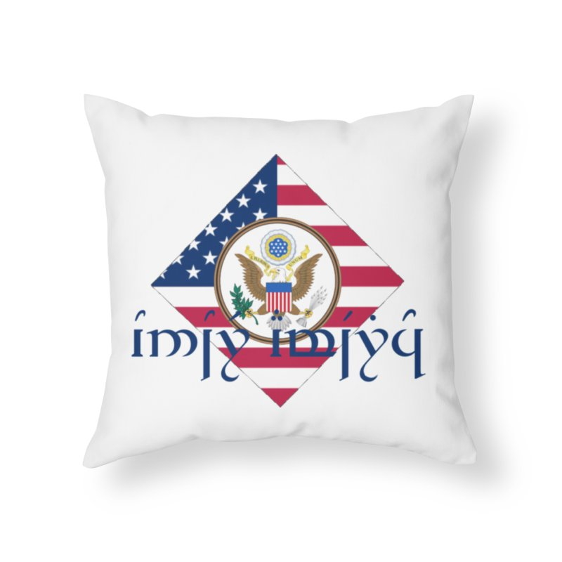 USA Elvish Heraldry in Throw Pillow by Q101 Shop