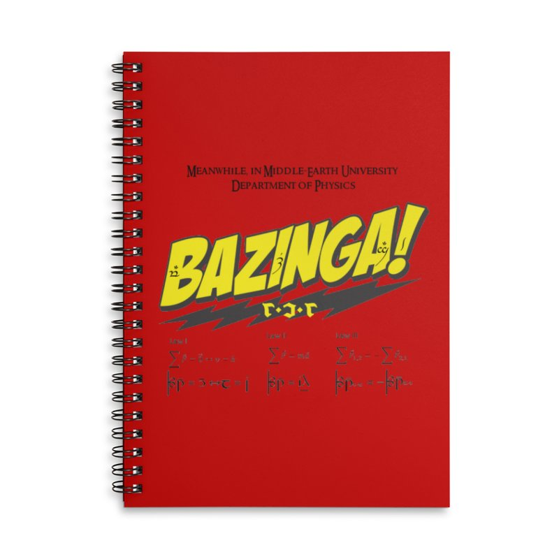 Bazinga! in Lined Spiral Notebook by Q101 Shop