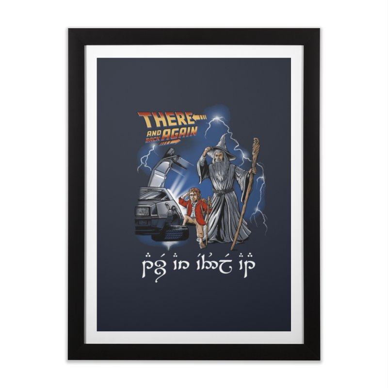There and back ... to the future ... again! in Framed Fine Art Print Black by Q101 Shop
