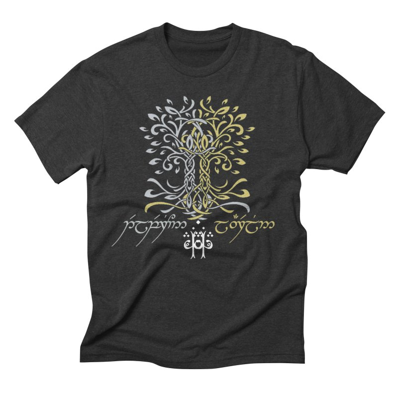 Two Trees of Valinor in Men's Triblend T-Shirt Heather Onyx by Q101 Shop