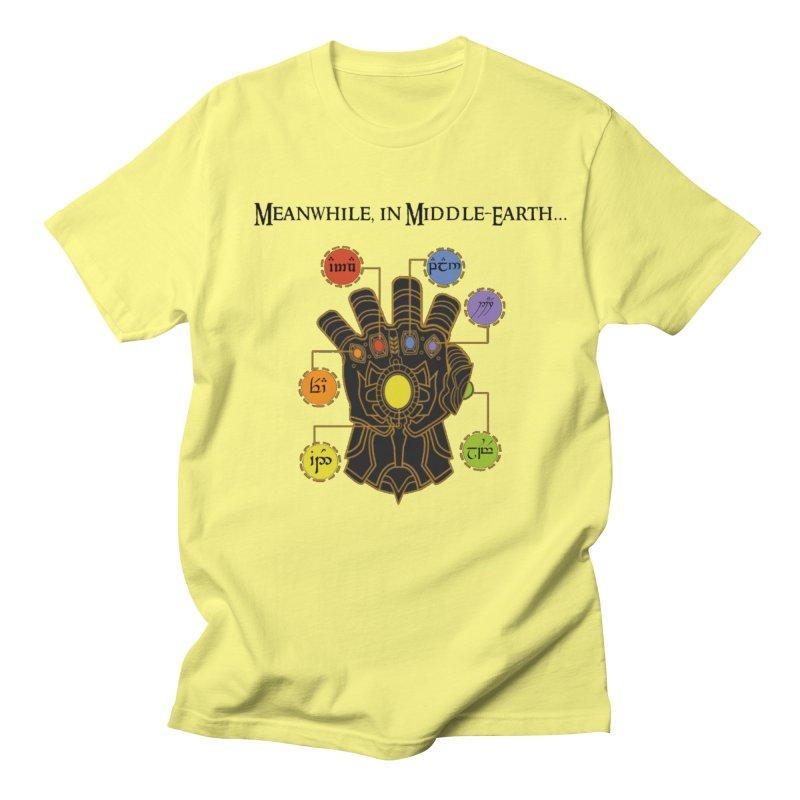 Infinity Gauntlet in Men's Regular T-Shirt Lemon by Q101 Shop