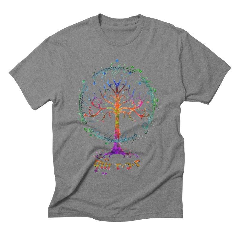 Elvish Rainbow Tree Men's Triblend T-Shirt by Q101 Shop