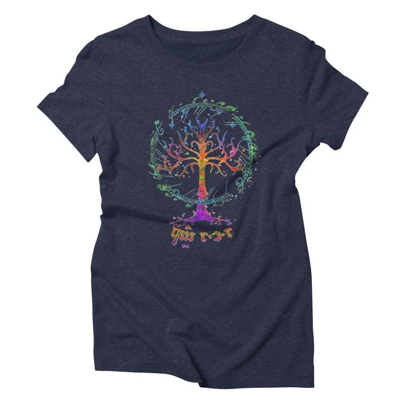 Elvish Rainbow Tree Women's Triblend T-Shirt by Q101 Shop