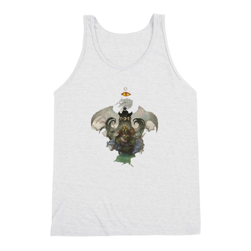 The Ring Above All Men's Triblend Tank by Q101 Shop