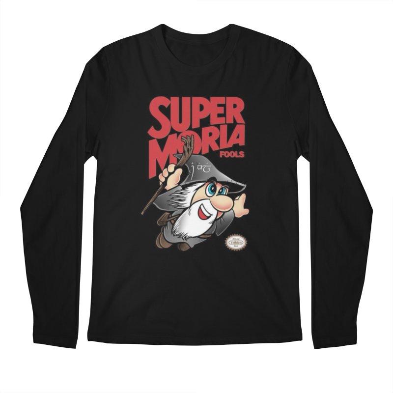 Super Moria Fools in Men's Regular Longsleeve T-Shirt Black by Q101 Shop