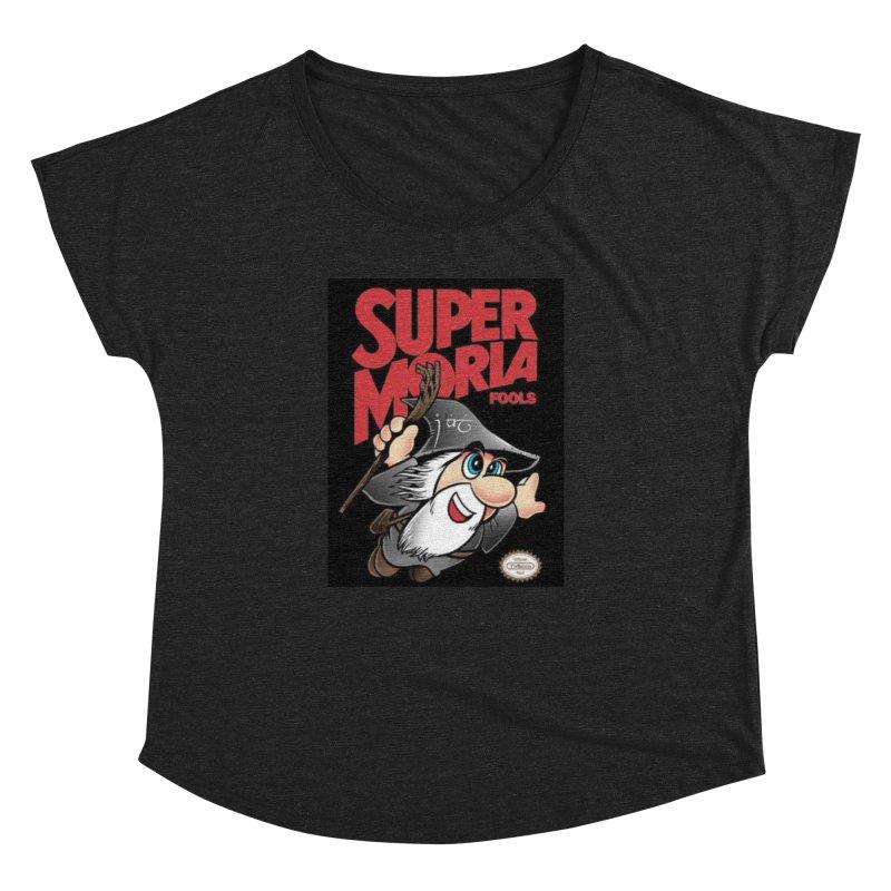 Super Moria Fools Women's Dolman Scoop Neck by Q101 Shop