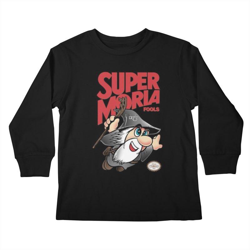 Super Moria Fools Kids Longsleeve T-Shirt by Q101 Shop