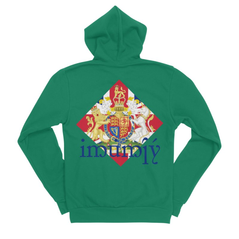 England Elvish Heraldry Women's Sponge Fleece Zip-Up Hoody by Q101 Shop