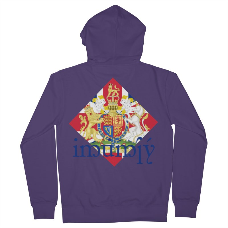 England Elvish Heraldry Women's French Terry Zip-Up Hoody by Q101 Shop