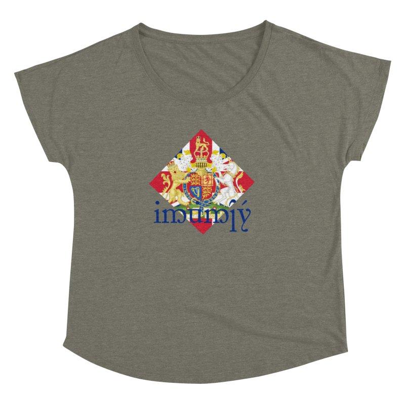 England Elvish Heraldry Women's Dolman Scoop Neck by Q101 Shop
