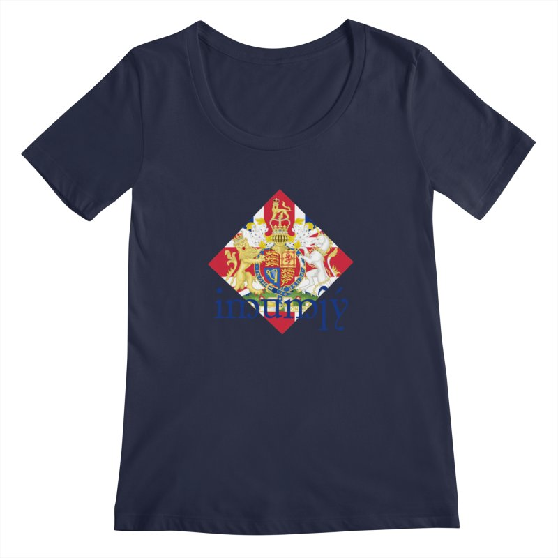 England Elvish Heraldry Women's Regular Scoop Neck by Q101 Shop