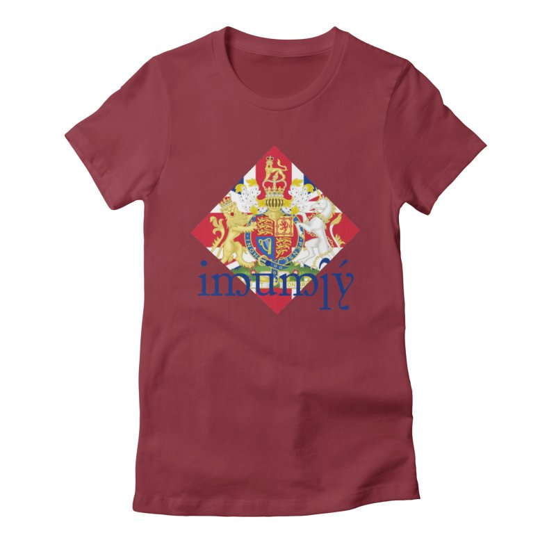 England Elvish Heraldry Women's Fitted T-Shirt by Q101 Shop