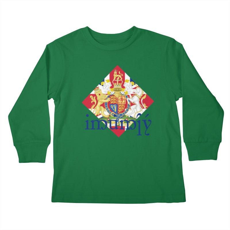 England Elvish Heraldry Kids Longsleeve T-Shirt by Q101 Shop