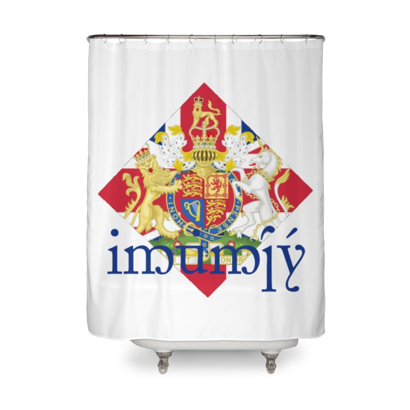 England Elvish Heraldry Home Shower Curtain by Q101 Shop